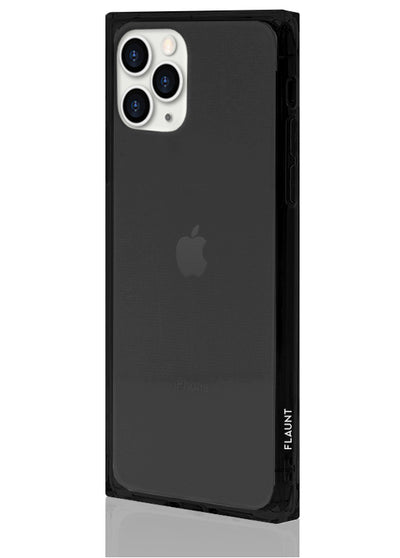 Black Clear Square Phone Case #iPhone 11 Pro Max