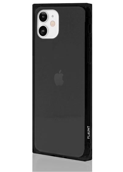 Black Clear Square Phone Case #iPhone 12 Mini