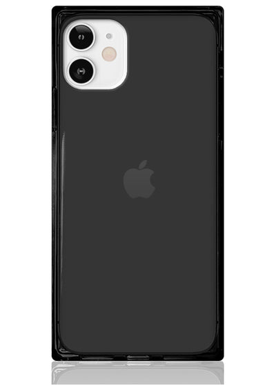 Black Clear Square iPhone Case #iPhone 12 Mini