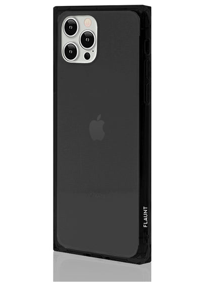 Black Clear Square Phone Case #iPhone 12 / iPhone 12 Pro