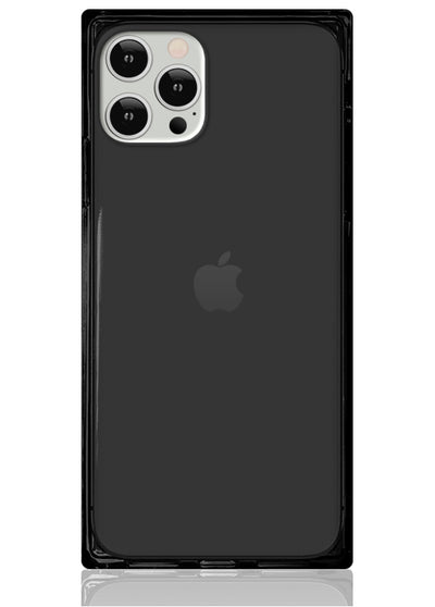 Black Clear Square iPhone Case #iPhone 12 Pro Max