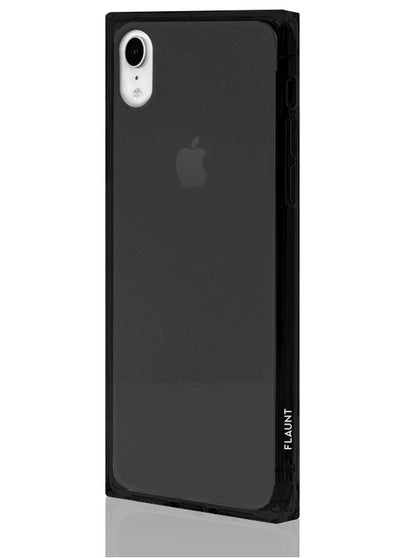Black Clear Square Phone Case #iPhone XR