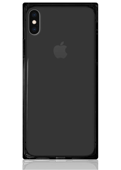 Black Clear Square iPhone Case #iPhone XS Max