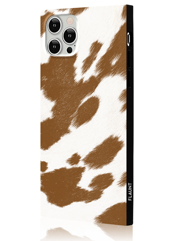 Tan Cow Square iPhone Case