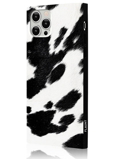 Cow Square Phone Case #iPhone 12 / iPhone 12 Pro