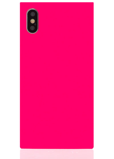 Hot Pink Square iPhone Case #iPhone X & Xs