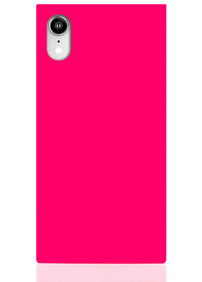 Hot Pink Square iPhone Case #iPhone XR