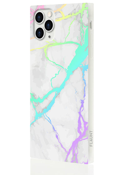 Holo Marble Square Phone Case #iPhone 11 Pro Max