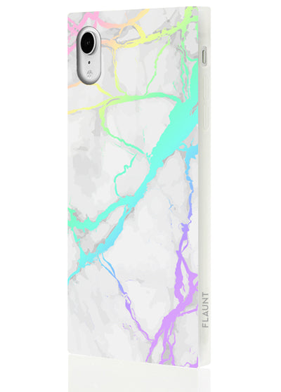 Holo Marble Square Phone Case #iPhone XR