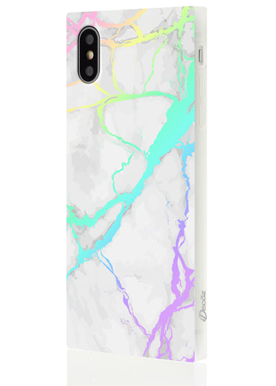Holo Marble Square Phone Case #iPhone X / iPhone XS