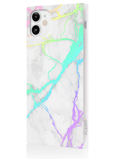 Holo Marble Square Phone Case #iPhone 12 Mini