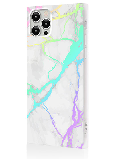 Holo Marble Square Phone Case #iPhone 12 Pro Max