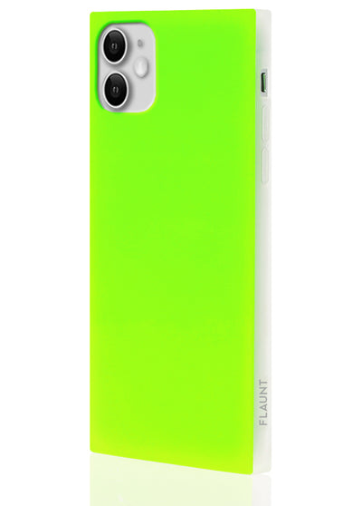 Neon Green Square Phone Case #iPhone 11