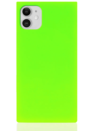 Neon Green Square iPhone Case #iPhone 11