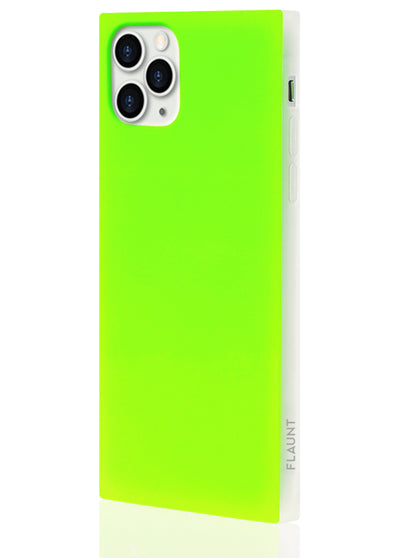 Neon Green Square Phone Case #iPhone 11 Pro