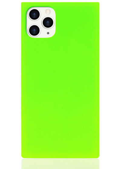 Neon Green Square iPhone Case #iPhone 11 Pro