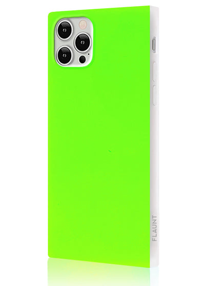 Neon Green Square Phone Case #iPhone 12 / iPhone 12 Pro