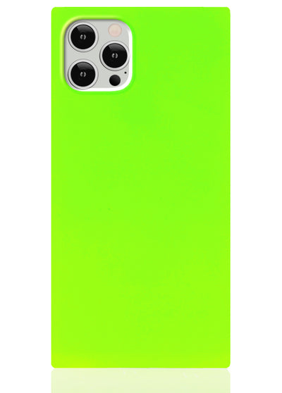 Neon Green Square iPhone Case #iPhone 12 Pro Max