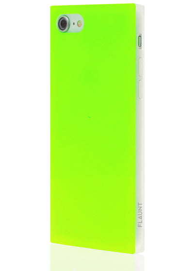Neon Green Square Phone Case #iPhone 7/8/SE (2020)