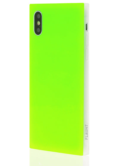 Neon Green Square Phone Case #iPhone X / iPhone XS