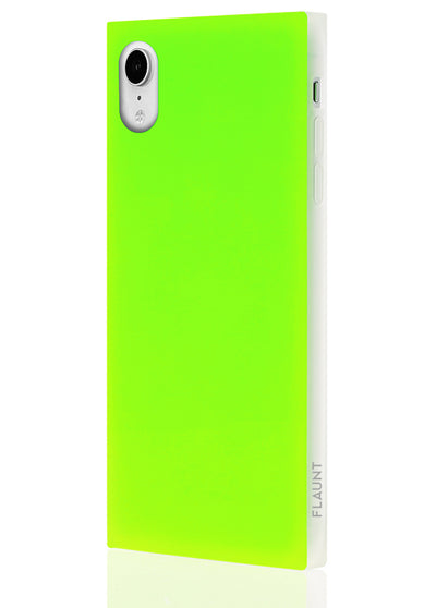 Neon Green Square Phone Case #iPhone XR