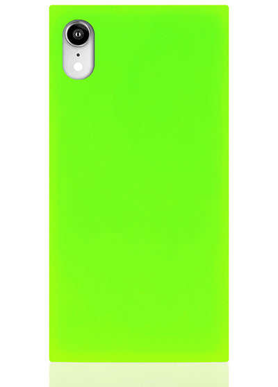Neon Green Square iPhone Case #iPhone XR