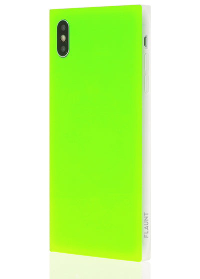 Neon Green Square Phone Case #iPhone XS Max