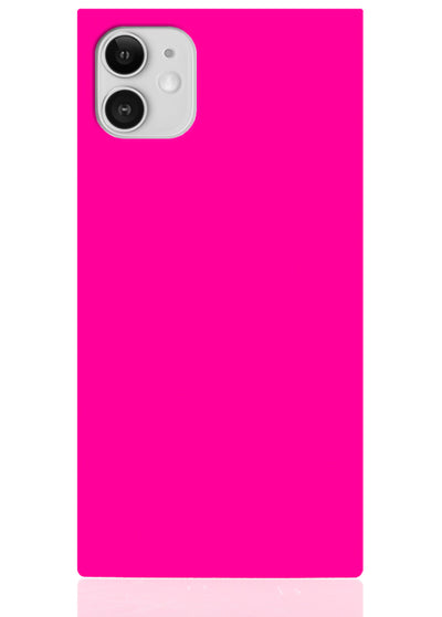 Neon Pink Square iPhone Case #iPhone 11