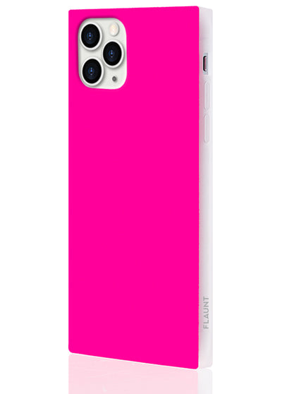 Neon Pink Square Phone Case #iPhone 11 Pro
