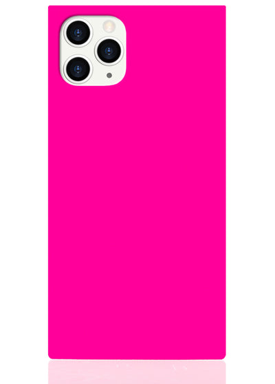 Neon Pink Square iPhone Case #iPhone 11 Pro