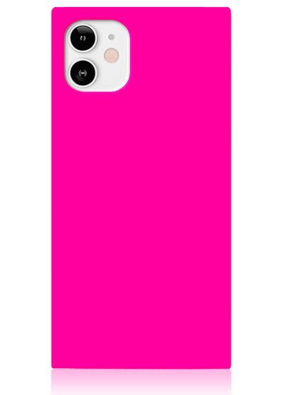 Neon Pink Square iPhone Case #iPhone 12 Mini