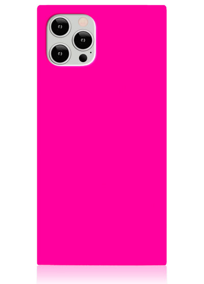 Neon Pink Square iPhone Case #iPhone 12 Pro/12