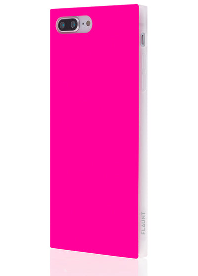 Neon Pink Square Phone Case #iPhone 8/7 Plus
