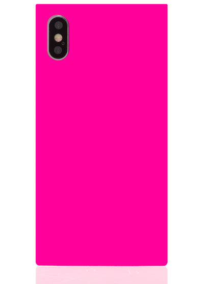 Neon Pink Square iPhone Case #iPhone X & Xs
