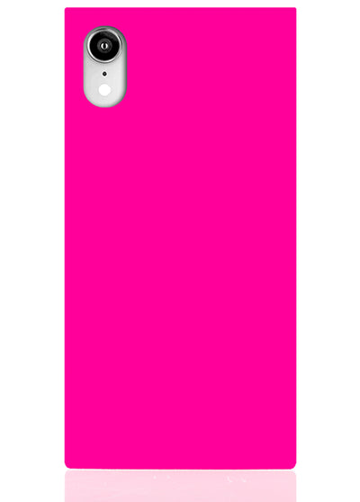 Neon Pink Square iPhone Case #iPhone XR