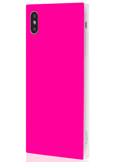 Neon Pink Square Phone Case #iPhone XS Max