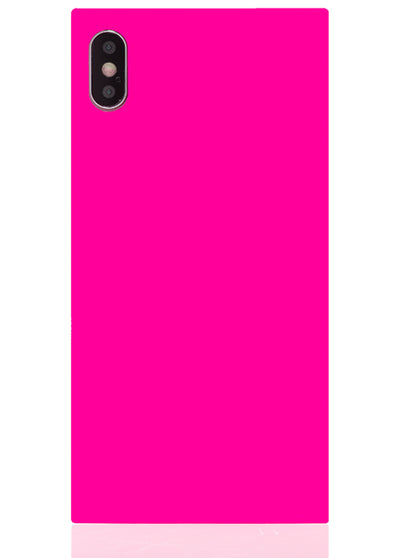 Neon Pink Square iPhone Case #iPhone XS Max