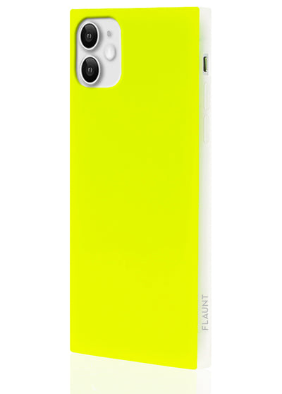 Neon Yellow Square Phone Case #iPhone 11