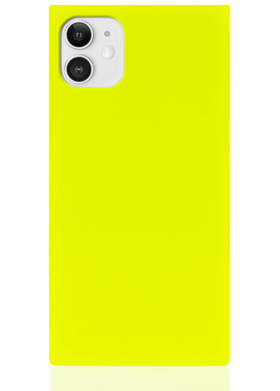 Neon Yellow Square iPhone Case #iPhone 11