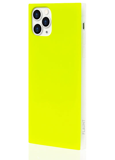 Neon Yellow Square iPhone Case #iPhone 11 Pro Max
