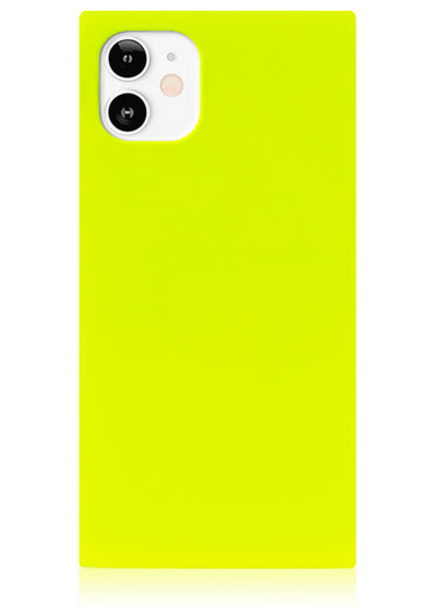 Neon Yellow Square iPhone Case #iPhone 12 Mini