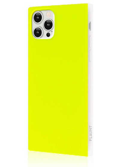 Neon Yellow Square Phone Case #iPhone 12 Pro Max