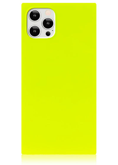 Neon Yellow Square iPhone Case #iPhone 12 Pro Max