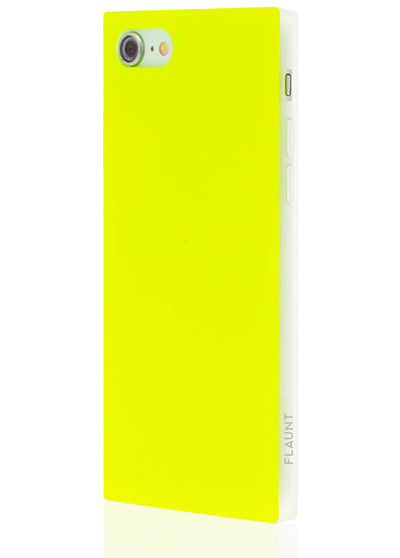 Neon Yellow Square Phone Case #iPhone 7/8/SE (2020)