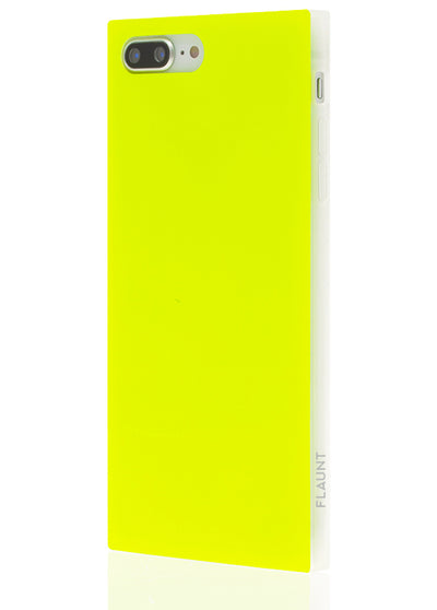 Neon Yellow Square Phone Case #iPhone 7 Plus / iPhone 8 Plus