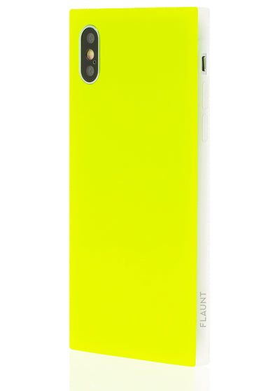 Neon Yellow Square Phone Case #iPhone X / iPhone XS