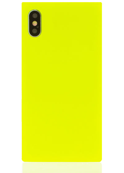 Neon Yellow Square iPhone Case #iPhone X / iPhone XS
