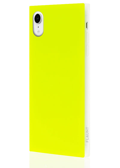 Neon Yellow Square Phone Case #iPhone XR