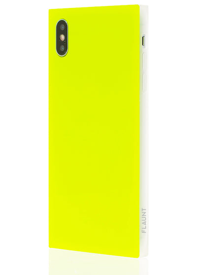Neon Yellow Square Phone Case #iPhone XS Max