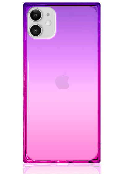Ombre Pink and Purple Square iPhone Case #iPhone 11